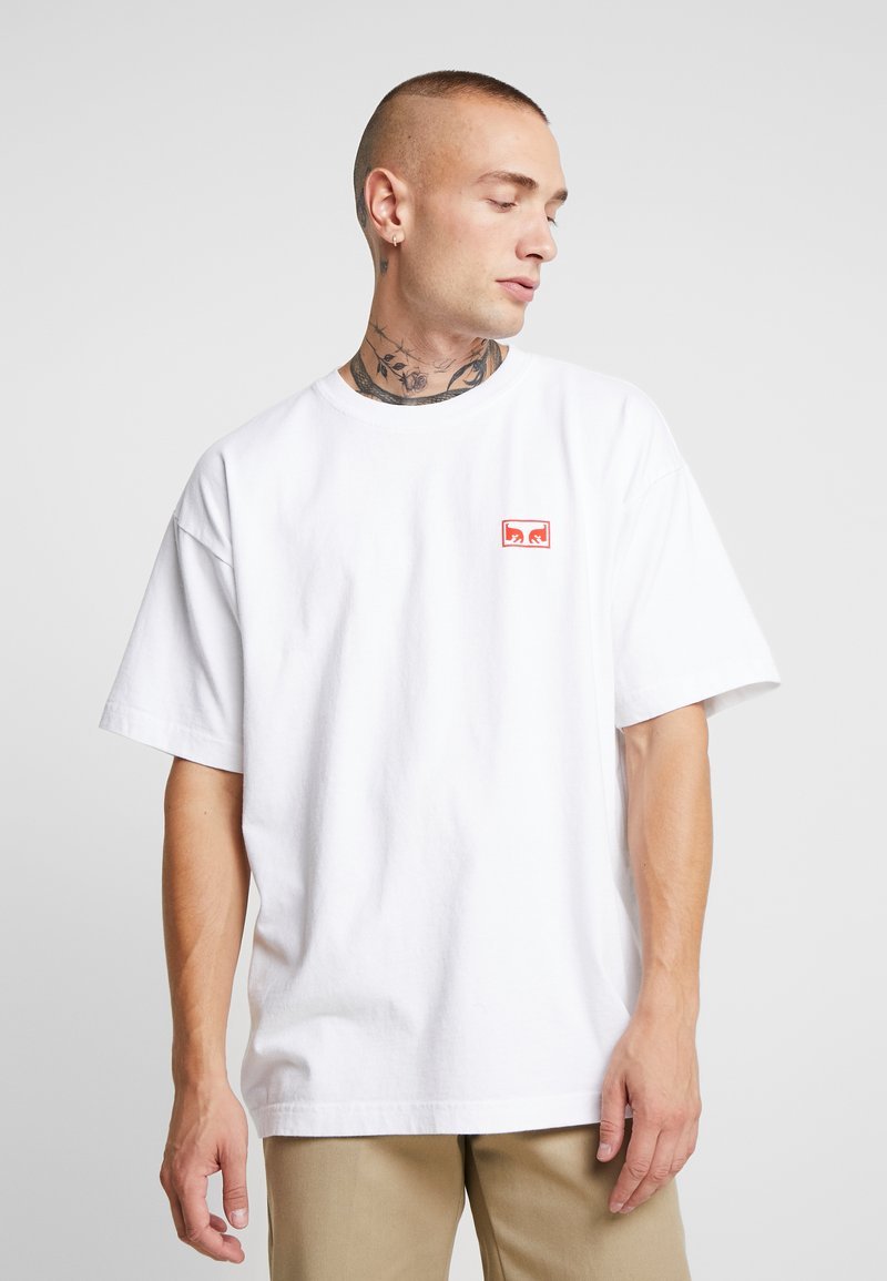 Obey Clothing - OBEY ONE LOVE - Printtipaita - white