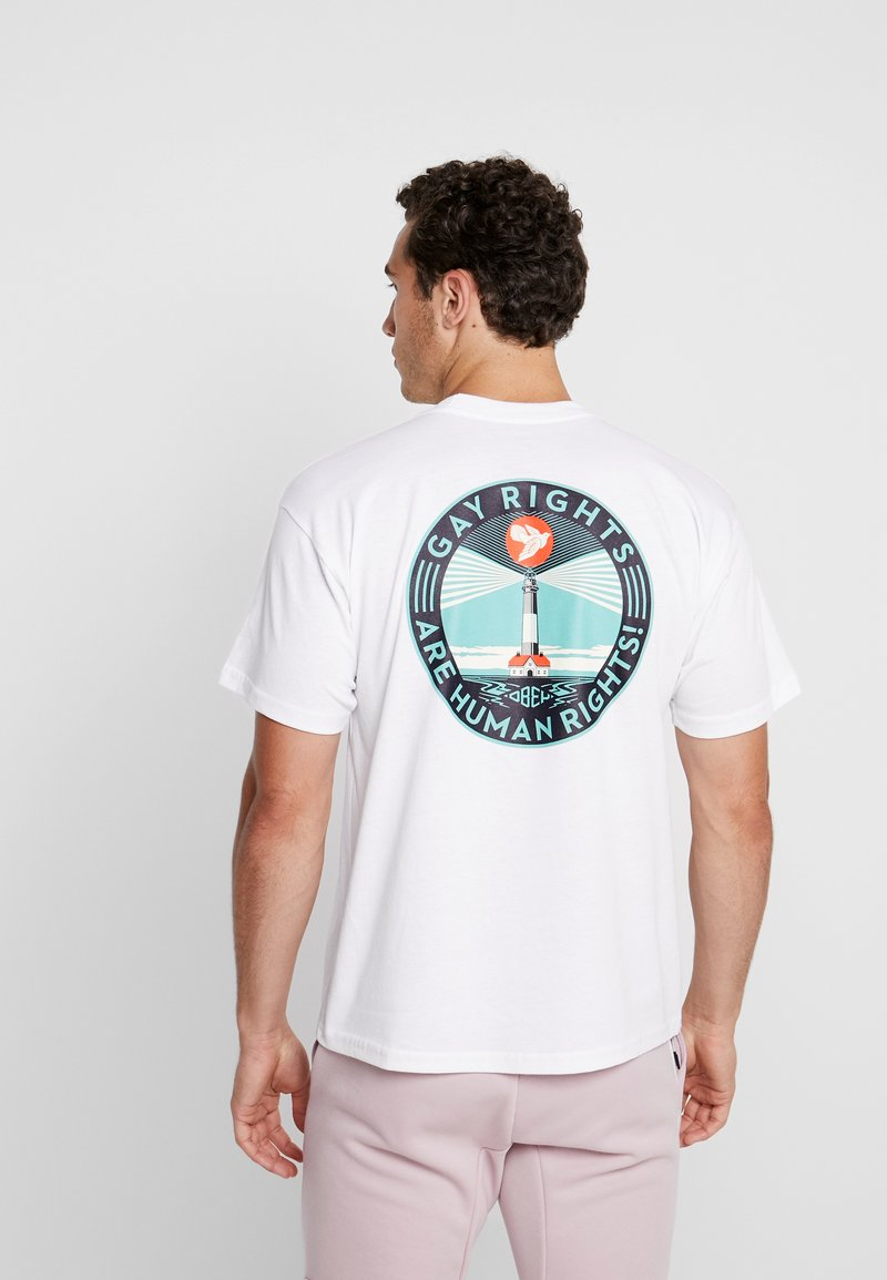 Obey Clothing - FIRE ISLAND - T-Shirt print - white