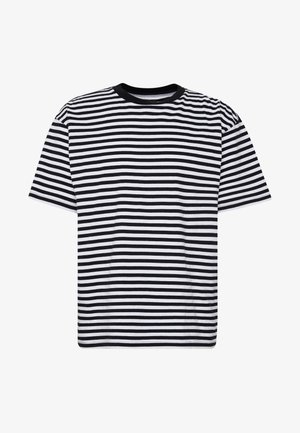 ICON STRIPE BOX TEE III  - T-shirt con stampa - black