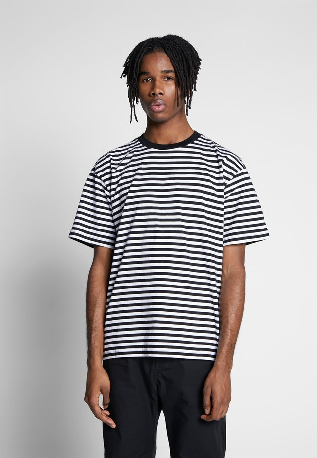 ICON STRIPE BOX TEE III  - T-Shirt print - black