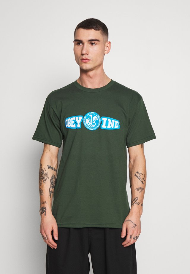 OBEY UNITY & RESPECT - Camiseta estampada - forest green
