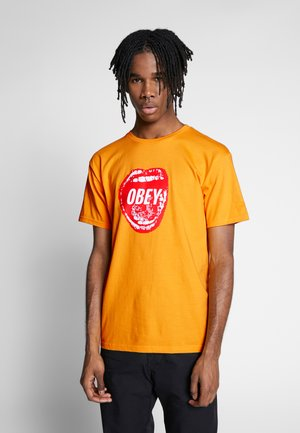 SCREAMIN LIPS - T-shirts med print - gold