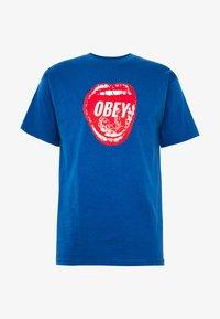 Obey Clothing - SCREAMIN LIPS - Triko spotiskem - royal blue - 3