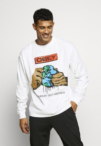 Obey Clothing - SQUEEZE OUT HATRED - Långärmad tröja - white - 0