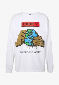 Obey Clothing - SQUEEZE OUT HATRED - Långärmad tröja - white - 3