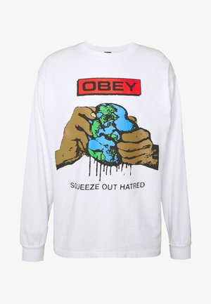 SQUEEZE OUT HATRED - T-shirt à manches longues - white