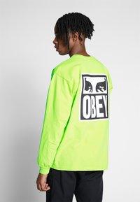 Obey Clothing - EYES ICON - Pitkähihainen paita - bright lime - 2