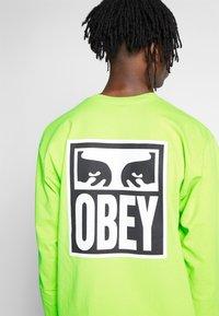 Obey Clothing - EYES ICON - Pitkähihainen paita - bright lime - 5