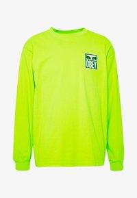 Obey Clothing - EYES ICON - Pitkähihainen paita - bright lime - 4