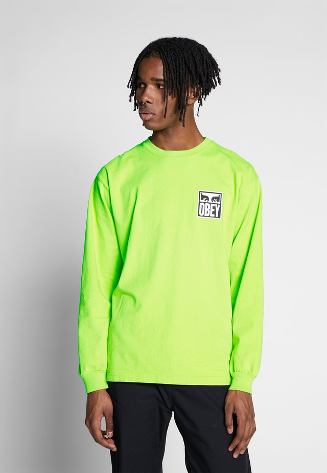 EYES ICON - Long sleeved top - bright lime