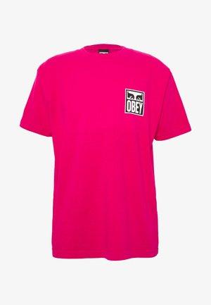 EYES ICON - T-shirts med print - magenta
