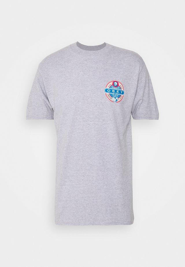 PURVEYORS OF DISSENT - T-shirt print - heather grey