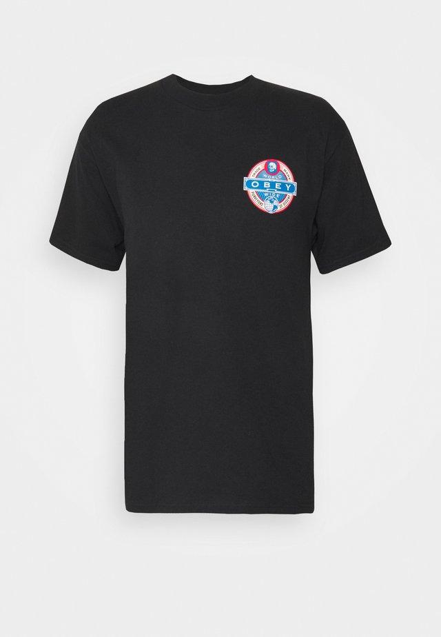 PURVEYORS OF DISSENT - Print T-shirt - black