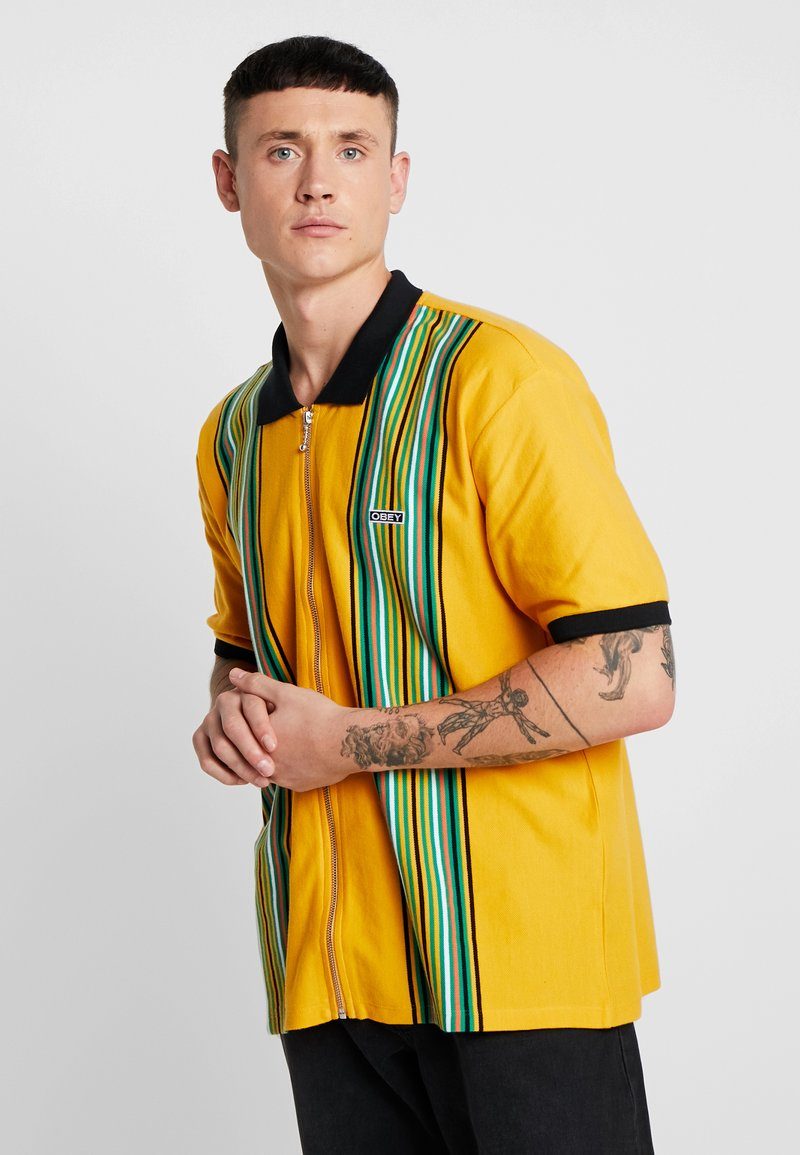 Obey Clothing - KELLY CLASSIC ZIP  - Camisa - energy yellow/multi-coloured