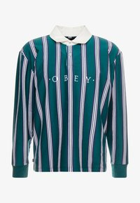 Obey Clothing - FIRM CLASSIC - Piké - dark teal/multi - 3