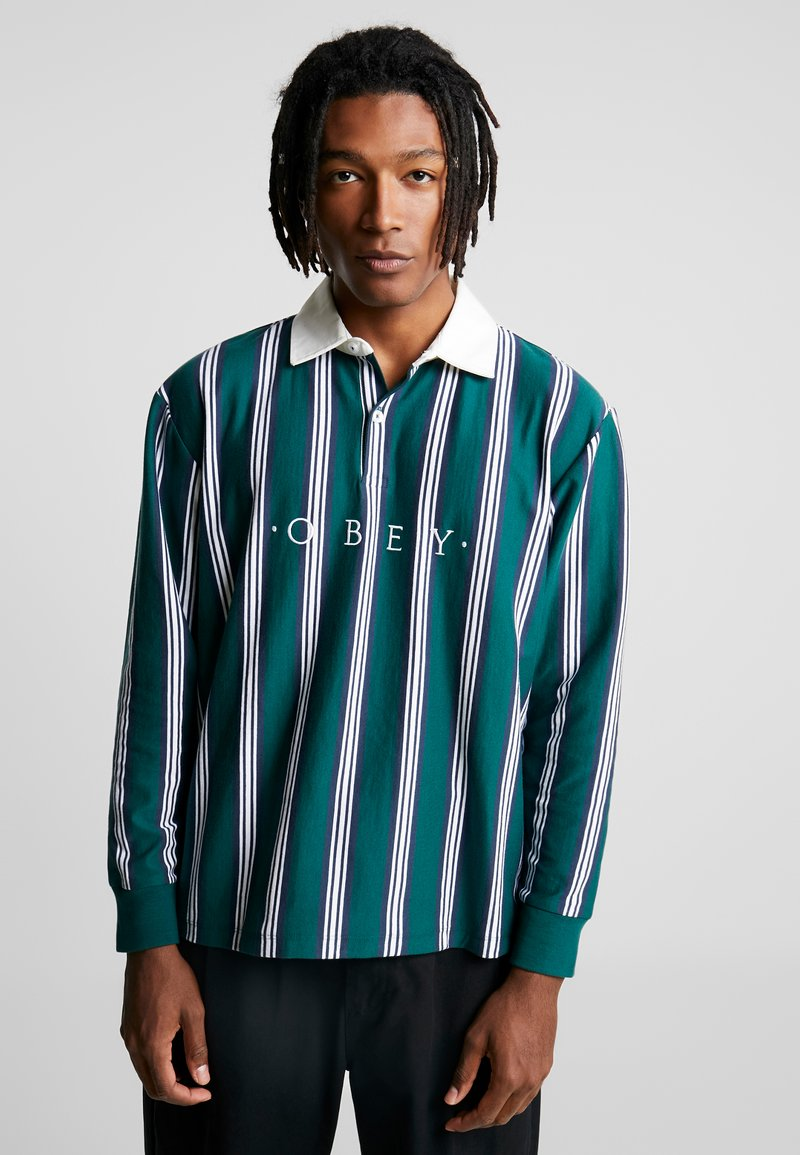 Obey Clothing - FIRM CLASSIC - Piké - dark teal/multi