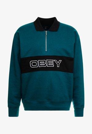 BARON ZIP CREW  - Sweatshirt - deep teal multi