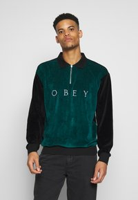 Obey Clothing - AVENUE ZIP - Poloshirt - black multi - 0
