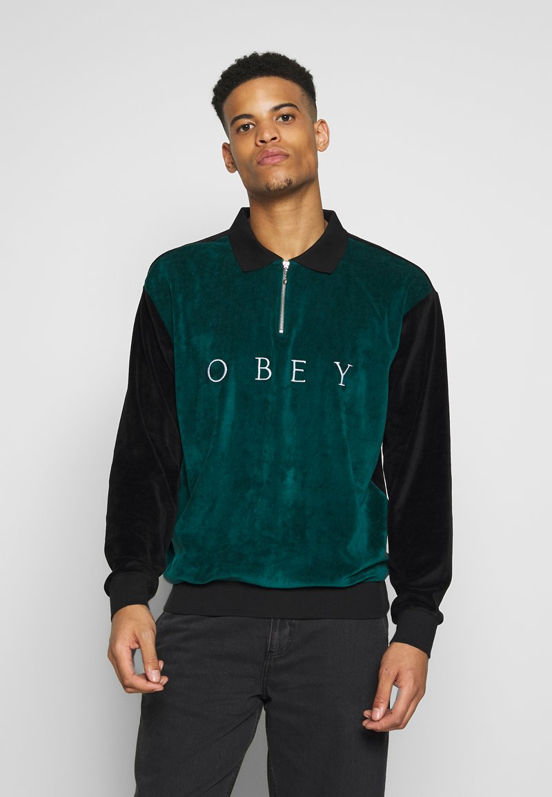 Obey Clothing - AVENUE ZIP - Poloshirt - black multi