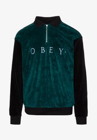Obey Clothing - AVENUE ZIP - Poloshirt - black multi - 3