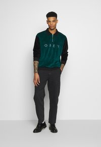 Obey Clothing - AVENUE ZIP - Poloshirt - black multi - 1