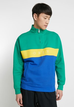 CHELSEA MOCK NECK ZIP - Felpa - growth green