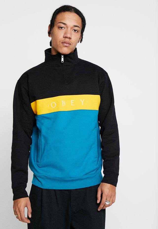 CHELSEA MOCK NECK ZIP - Sweatshirt - black