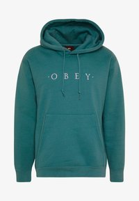 Obey Clothing - NOUVELLE HOOD - Luvtröja - eucalyptus - 4