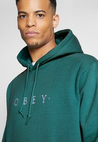 Obey Clothing - NOUVELLE HOOD - Luvtröja - eucalyptus - 3
