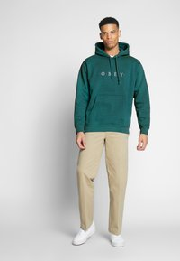 Obey Clothing - NOUVELLE HOOD - Luvtröja - eucalyptus - 1