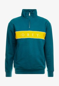 Obey Clothing - DEAL MOCK NECK - Collegepaita - deep teal multi - 3