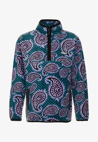 Obey Clothing - EISLEY MOCK ZIP - Kurtka z polaru - teal - 3
