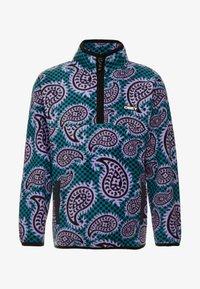 Obey Clothing - EISLEY MOCK ZIP - Fleece jacket - teal - 3