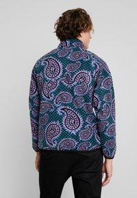 Obey Clothing - EISLEY MOCK ZIP - Fleece jacket - teal - 2