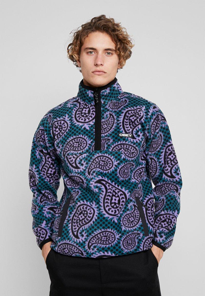 Obey Clothing - EISLEY MOCK ZIP - Fleece jacket - teal