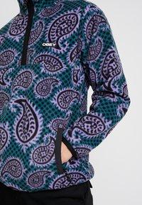 Obey Clothing - EISLEY MOCK ZIP - Fleece jacket - teal - 4