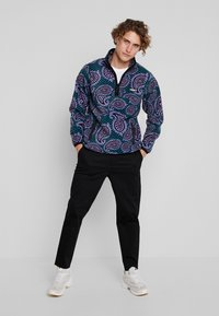 Obey Clothing - EISLEY MOCK ZIP - Fleece jacket - teal - 1