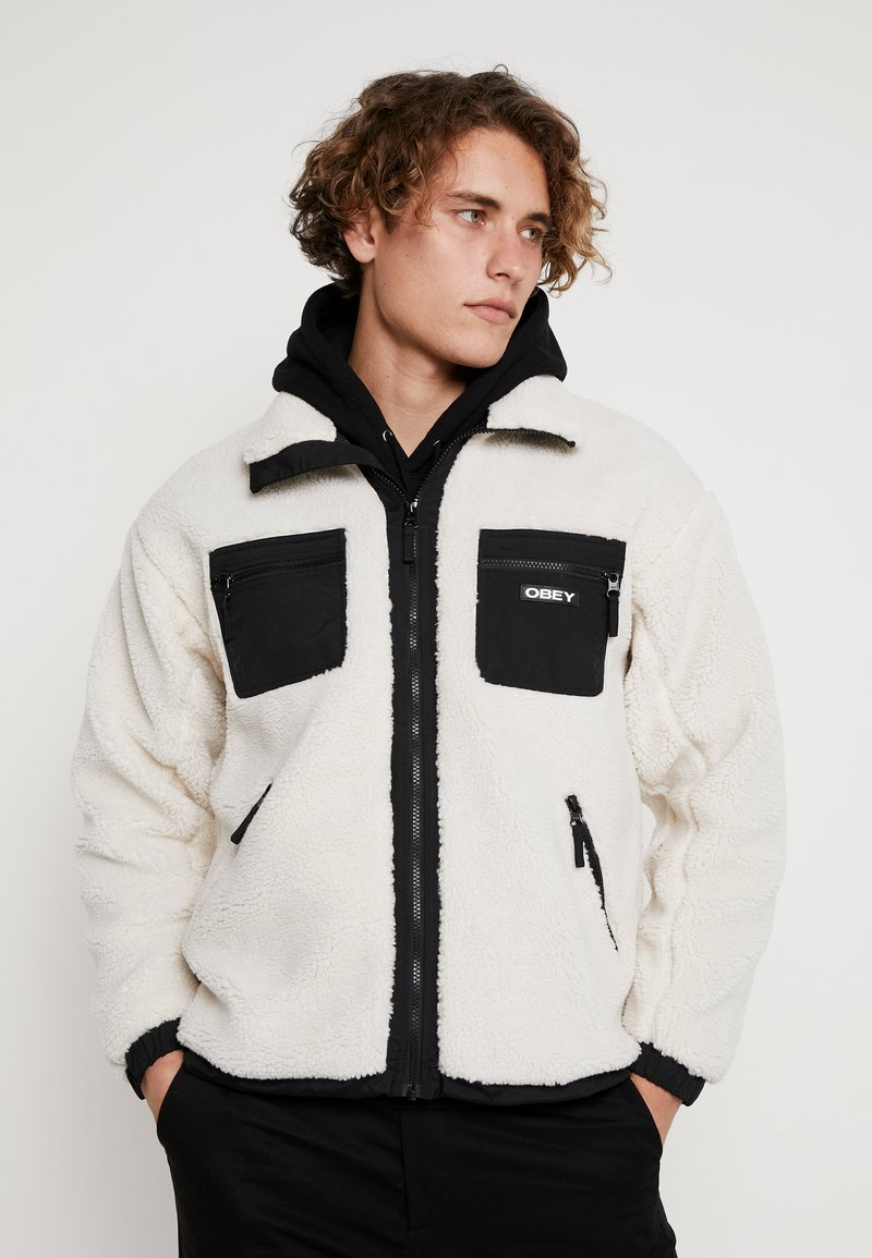 Obey Clothing - OUT THERE SHERPA JACKET - Übergangsjacke - natural