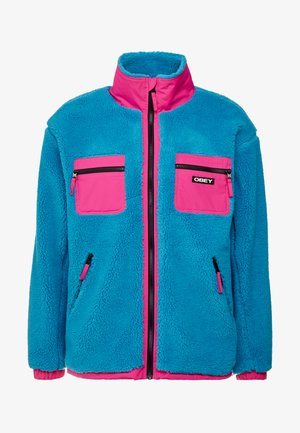 OUT THERE SHERPA JACKET - Veste mi-saison - pure teal