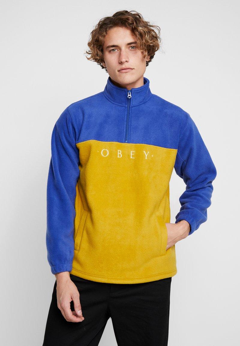 Obey Clothing - CHANNEL MOCK NECK - Bluza z polaru - gold/multi