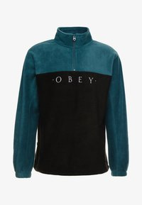 Obey Clothing - CHANNEL MOCK NECK - Bluza z polaru - black - 3