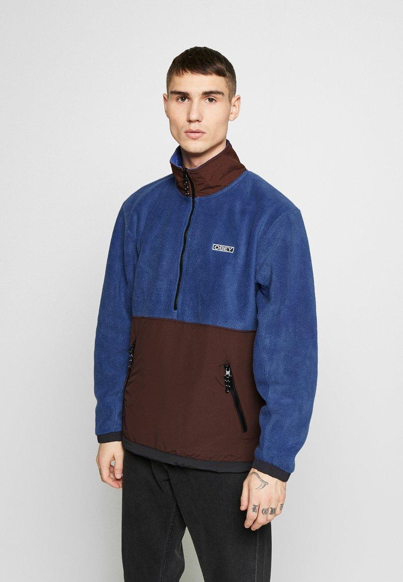 Obey Clothing - GALLAGHER  - Forro polar - blue multi