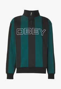 Obey Clothing - GOAL ZIP MOCK NECK - Sudadera - deep teal/multi - 4