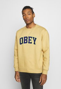 Obey Clothing - OBEY SPORTS II CREW - Mikina - almond - 0