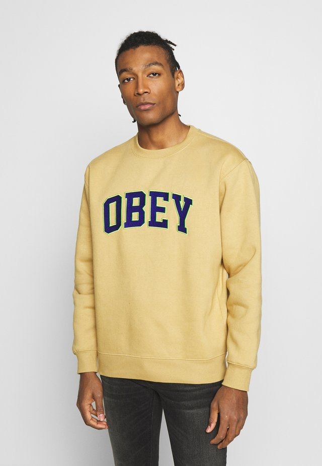 OBEY SPORTS II CREW - Collegepaita - almond