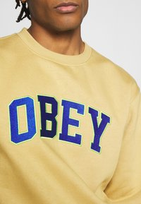 Obey Clothing - OBEY SPORTS II CREW - Mikina - almond - 5