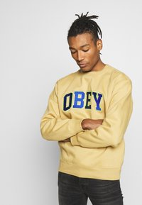 Obey Clothing - OBEY SPORTS II CREW - Mikina - almond - 3
