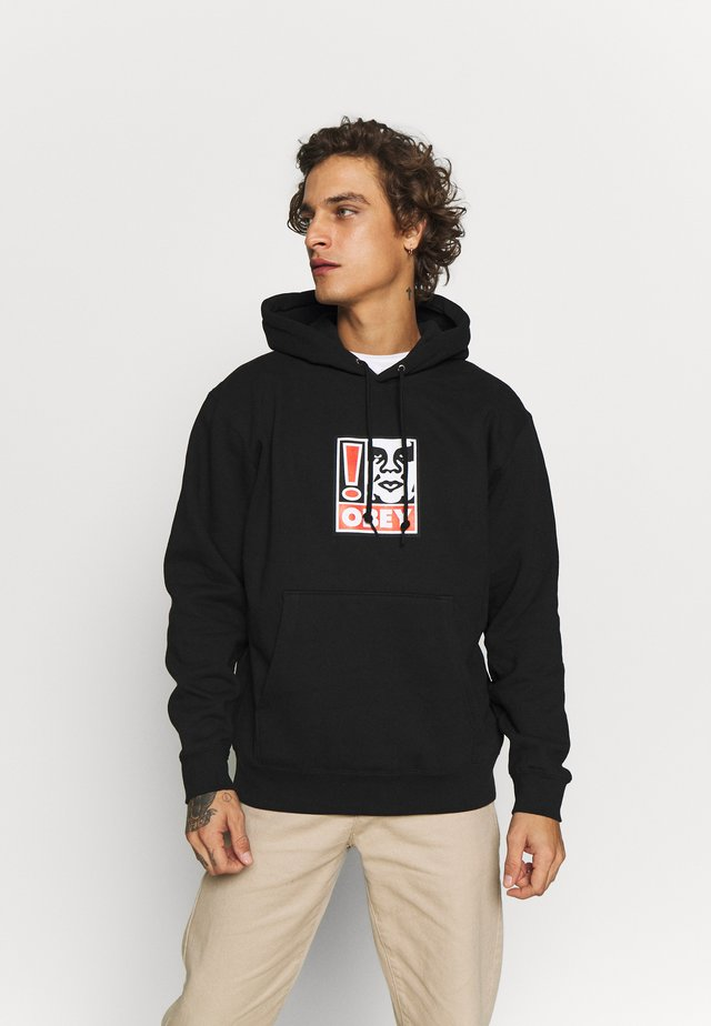 OBEY EXCLAMATION POINT - Hoodie - black