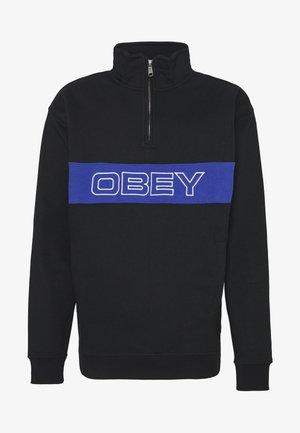 COURT ZIP MOCK - Sweatshirt - black multi