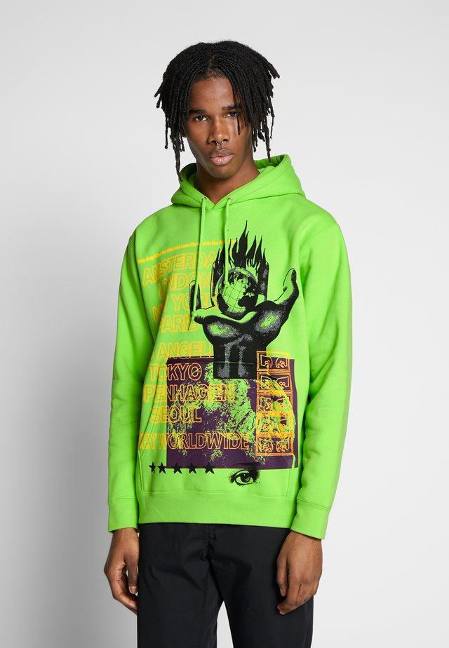 OUR PLANET - Hoodie - bright lime